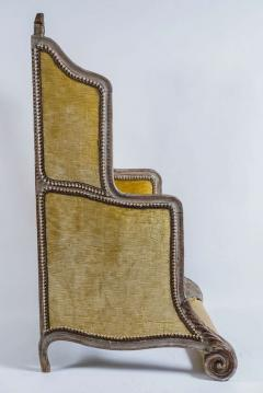 Louis XV Style Bergere or Armchair of Unusual Form France circa 1890 - 788664