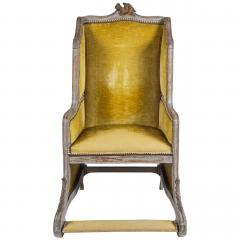 Louis XV Style Bergere or Armchair of Unusual Form France circa 1890 - 788669