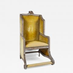 Louis XV Style Bergere or Armchair of Unusual Form France circa 1890 - 790931