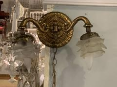Louis XV Style Brass Double Globe Wall Sconce - 1466407