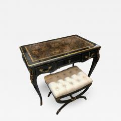 Louis XV Style Desk Secretary with Neoclassical Stool - 1059213