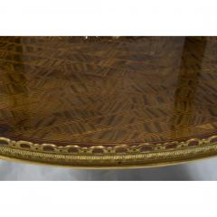 Louis XV Style Ormolu Mounted Inlaid Tulipwood and Mahogany Galleried Oval Table - 1567218