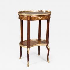 Louis XV Style Ormolu Mounted Inlaid Tulipwood and Mahogany Galleried Oval Table - 1568904