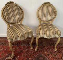 Louis XV Style Oval Back Side Chair a Pair - 1639911