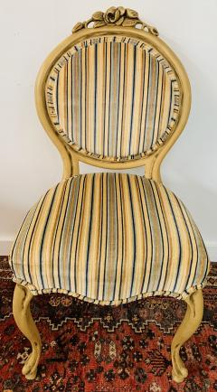 Louis XV Style Oval Back Side Chair a Pair - 1639913