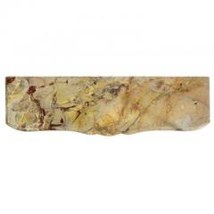 Louis XV Style Sarrancolin Framboise Marble Mantlepiece - 1532681