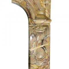 Louis XV Style Sarrancolin Framboise Marble Mantlepiece - 1532685