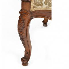 Louis XV Walnut Fauteuil Arm Chair 19th C French - 167830