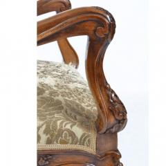 Louis XV Walnut Fauteuil Arm Chair 19th C French - 167835