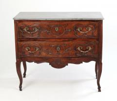 Louis XV Walnut Serpentine Chest c 1770 80 - 1177875