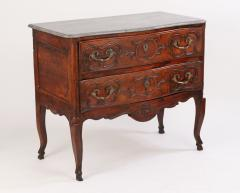 Louis XV Walnut Serpentine Chest c 1770 80 - 1177876