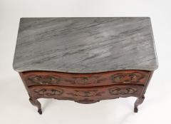 Louis XV Walnut Serpentine Chest c 1770 80 - 1177877
