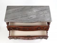 Louis XV Walnut Serpentine Chest c 1770 80 - 1177880