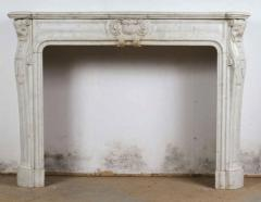 Louis XV XVI Transitional Style Marble Mantle - 513402