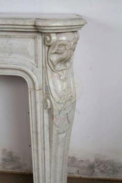Louis XV XVI Transitional Style Marble Mantle - 513403