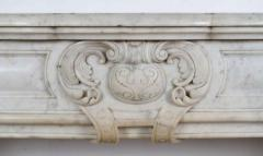 Louis XV XVI Transitional Style Marble Mantle - 513404
