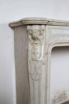 Louis XV XVI Transitional Style Marble Mantle - 513407