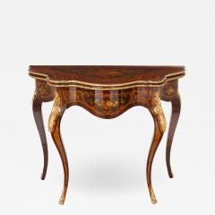 Louis XV style gilt bronze and marquetry card table - 1446471