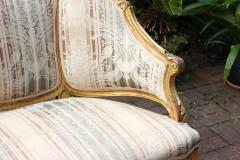 Louis XVI Gilt Carved Settee 19th Century France - 1638544