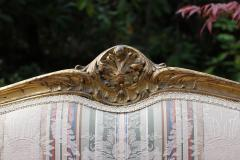 Louis XVI Gilt Carved Settee 19th Century France - 1638545