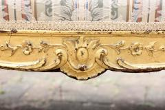 Louis XVI Gilt Carved Settee 19th Century France - 1638549