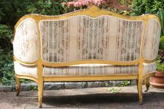 Louis XVI Gilt Carved Settee 19th Century France - 1638554