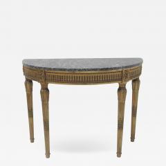 Louis XVI Style Demilune Console Table - 1919833