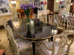 Louis XVI Style Ebony Center or Dining Table Manner of Maison Jansen Refinished - 1241063
