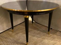 Louis XVI Style Ebony Center or Dining Table Manner of Maison Jansen Refinished - 1241065