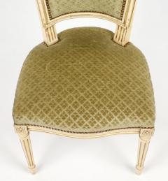 Louis XVI Style French Antique Sage Green Dining Chairs - 606984