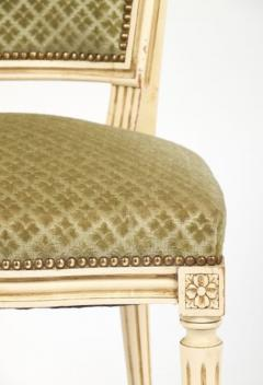 Louis XVI Style French Antique Sage Green Dining Chairs - 606985
