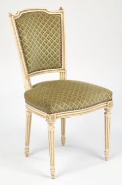 Louis XVI Style French Antique Sage Green Dining Chairs - 606986