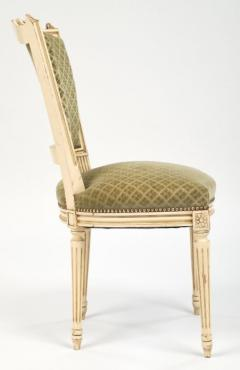 Louis XVI Style French Antique Sage Green Dining Chairs   606987