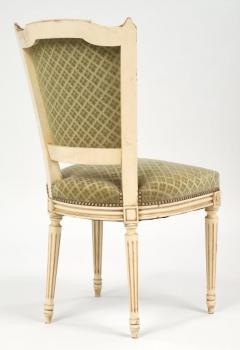 Louis XVI Style French Antique Sage Green Dining Chairs - 606988