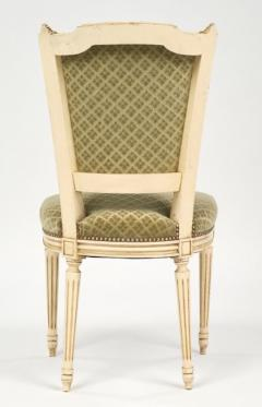 Louis XVI Style French Antique Sage Green Dining Chairs - 606989