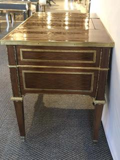 Louis XVI Style Gilt Bronze Parquetry Marquetry Dressing Table Desk or Vanity - 1250333