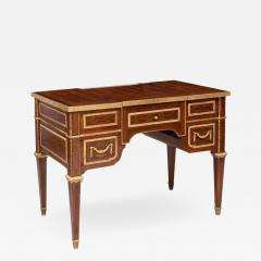 Louis XVI Style Gilt Bronze Parquetry Marquetry Dressing Table Desk or Vanity - 1251530