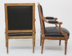Louis XVI Style Giltwood Fauteuils Armchairs - 1944699