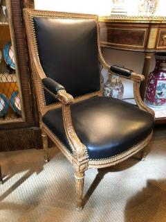 Louis XVI Style Giltwood Fauteuils Armchairs - 1944702
