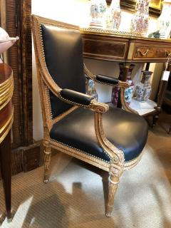 Louis XVI Style Giltwood Fauteuils Armchairs - 1944703