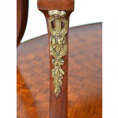 Louis XVI Style Inlaid Two Tier Ormolu Mounted Dessert Table - 169678