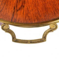 Louis XVI Style Inlaid Two Tier Ormolu Mounted Dessert Table - 169680