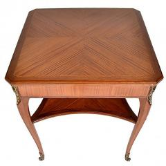 Louis XVI Style Square Two Tier Satinwood Center Table - 163792