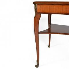 Louis XVI Style Square Two Tier Satinwood Center Table - 163793