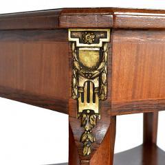 Louis XVI Style Square Two Tier Satinwood Center Table - 163795