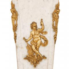 Louis XVI style French gilt bronze and marble pedestal - 2022758