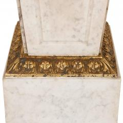 Louis XVI style French gilt bronze and marble pedestal - 2022760