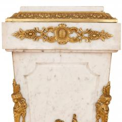 Louis XVI style French gilt bronze and marble pedestal - 2022761