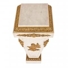 Louis XVI style French gilt bronze and marble pedestal - 2022766