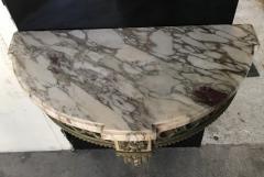 Louis XVI style carved wood and white painted console - 1181480